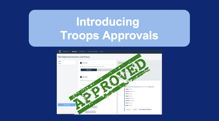Introducing Troops Approvals