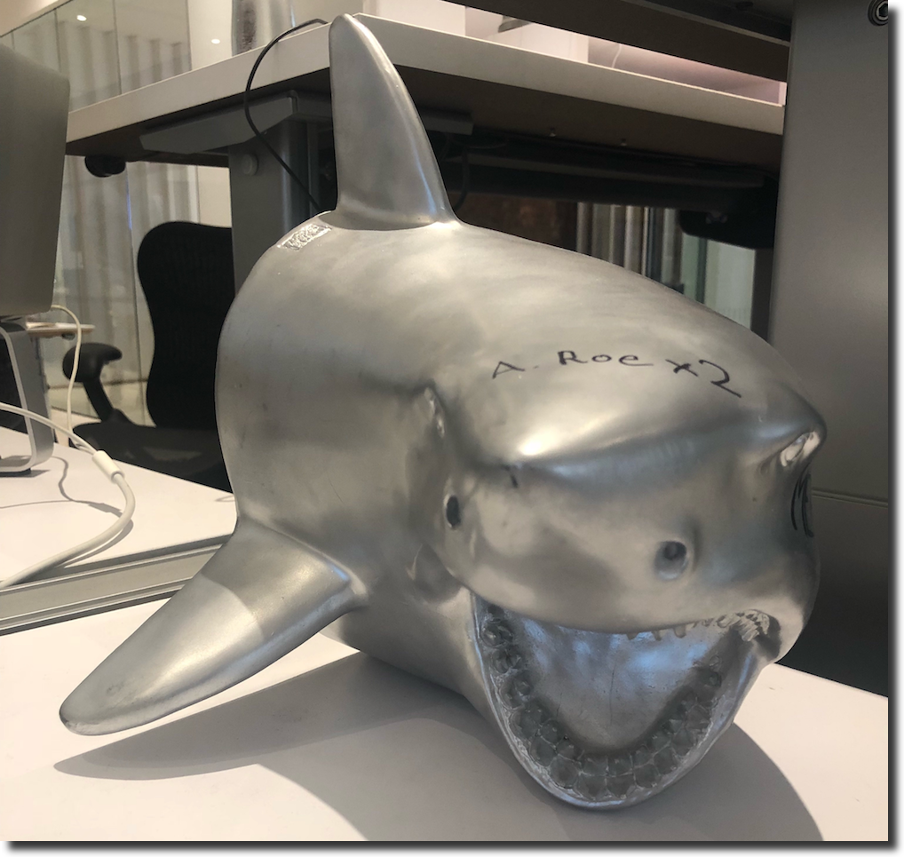 "How to motivate a sales team: the ""Sales Shark"" that is passed from office to office"
