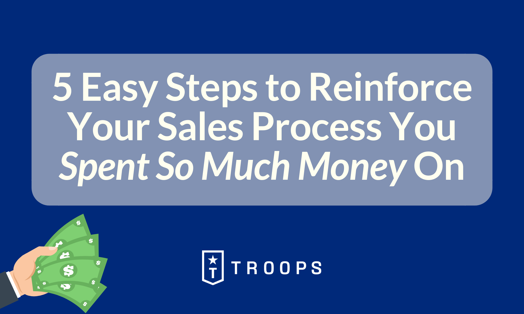 reinforce-sales-process