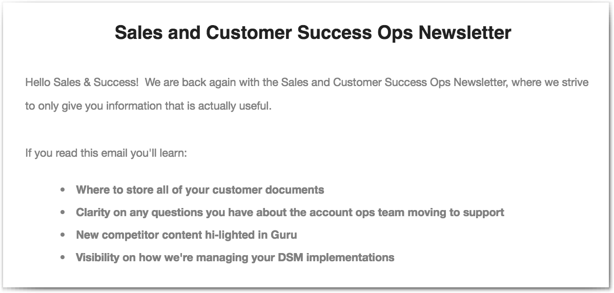 Remote sales teams benefit from having a newsletter with incentives