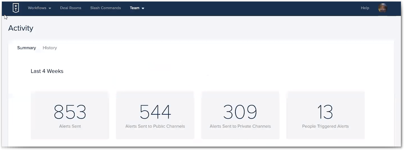 Troops provides statistics so you can see which employees are utilizing the platform effectively.