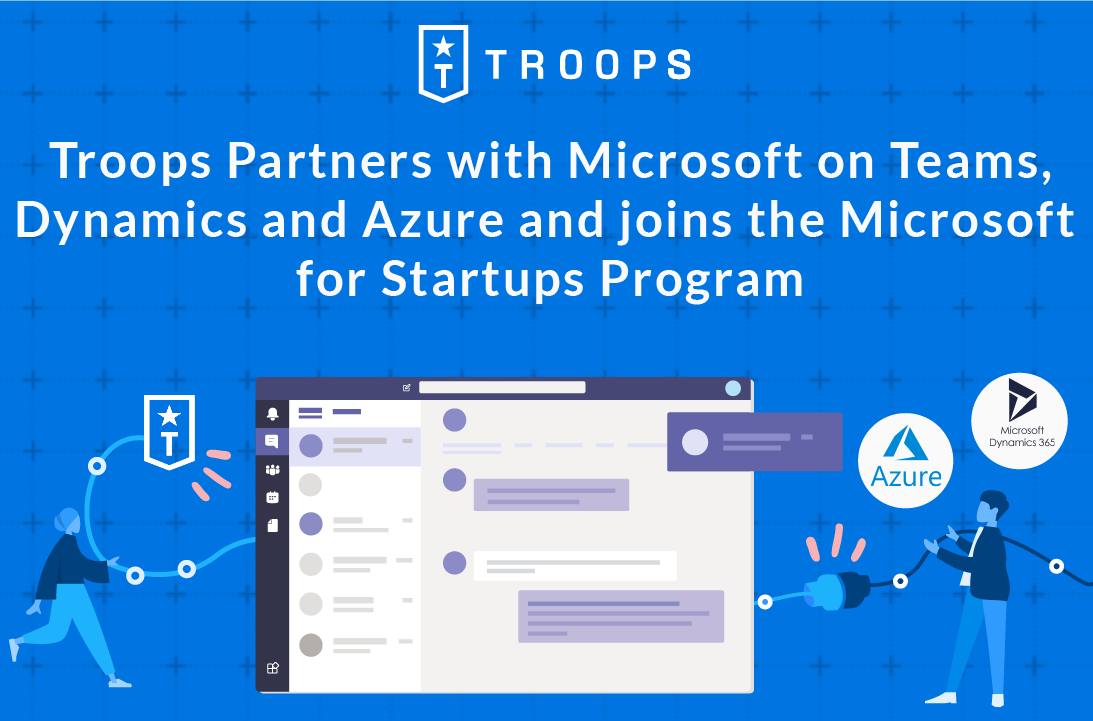 Troops teams up with Microsoft on Teams, Dynamics 365 and Azure and joins the Microsoft for Startups Program