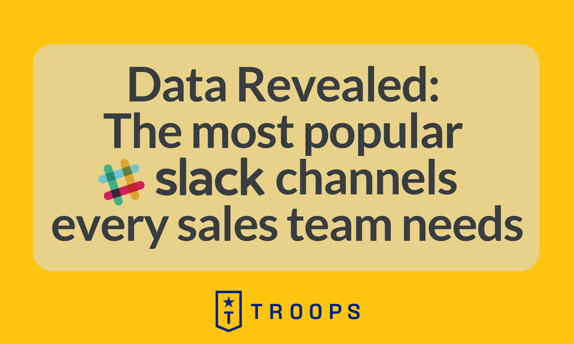 How Top Orgs Use Slack Sales Channels: Data From HubSpot, Slack, Intercom, and More