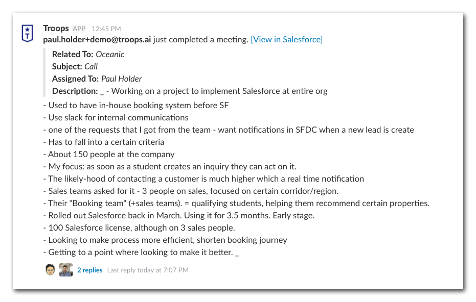 Automating Your Sales Call Reports in Slack