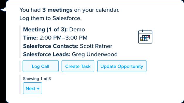 Troops image log meetings in Salesforce